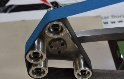 rotary platen for belt grinder