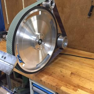 """20"""" contact wheel for knife making"""